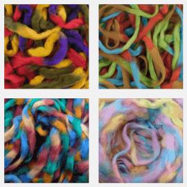 Merino Space Rainbow Wool Roving