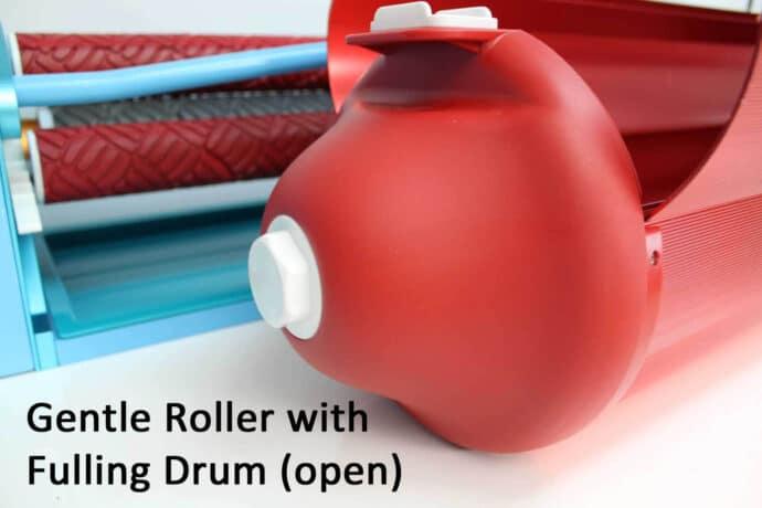 Gentle Roller Fulling drum open / Gentle Roller voltrommel open
