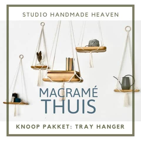 Tray hanger maken macrame