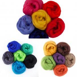 Tussah-zijde kleursetjes